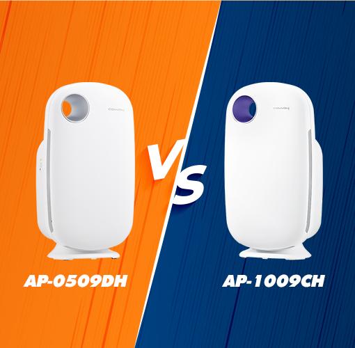 So sánh máy lọc không khí Coway AP-0509DH và AP-1009CH