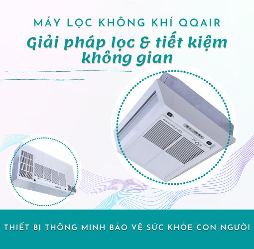 Máy lọc không khí âm trần QQair - Giải pháp lọc và tiết kiệm không gian