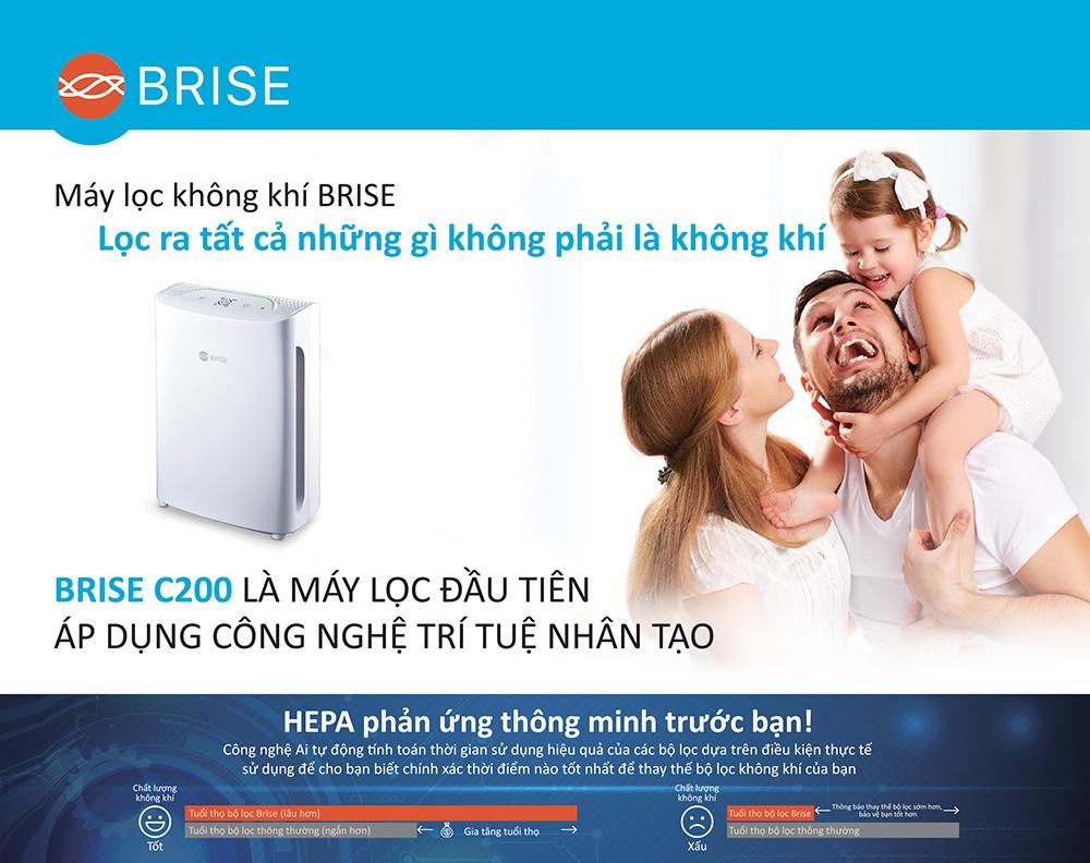 MÁY LỌC KHÔNG KHÍ BRISE C200