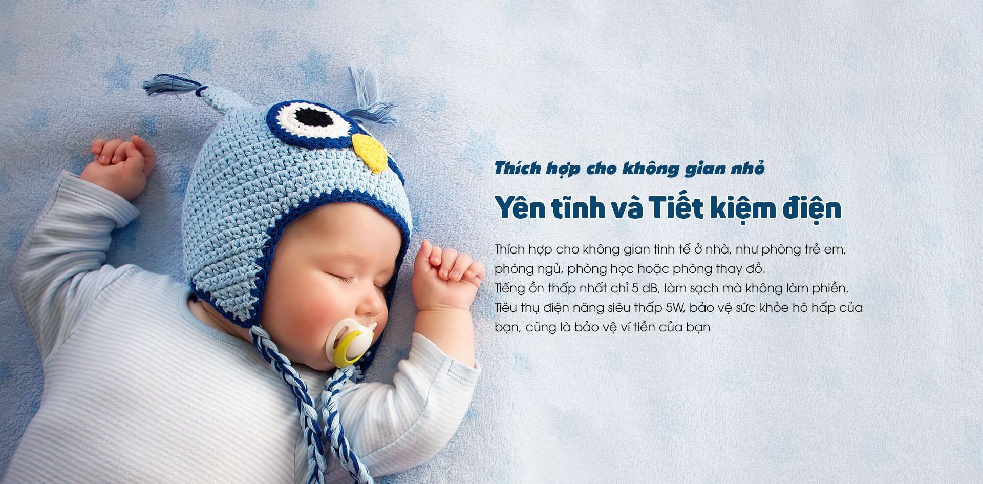 máy lọc không khí cho trẻ sơ sinh